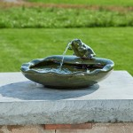 Smart Solar Frog Fountain