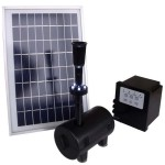 Solar Fountain Pump with Battery