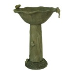 Solar Frog Fountain and Bird Bath