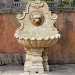 Solar Lion Head Wall Fountain