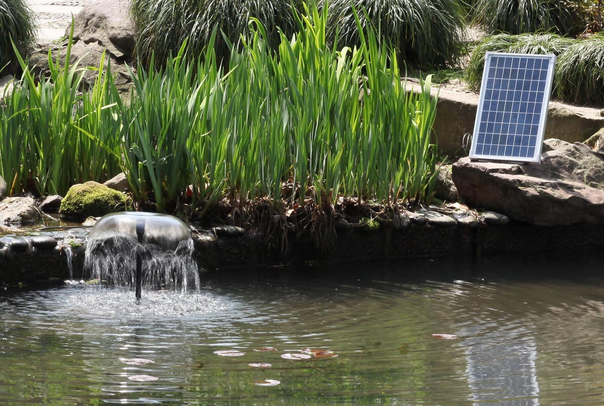 Solar pond fountain kit fountain design ideas for Solar water pump pond