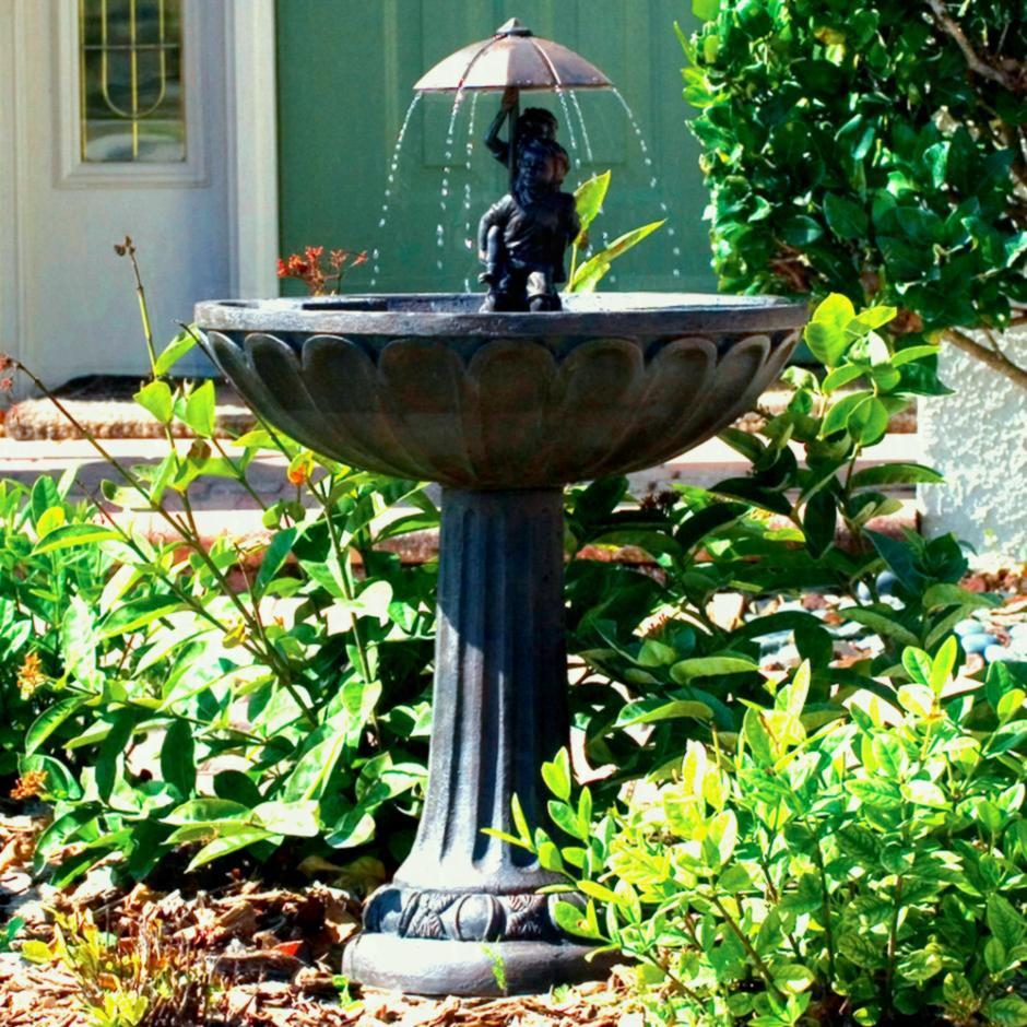 Solar Powered Patio Fountains