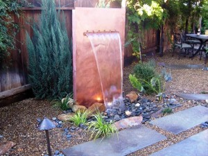 Solar Wall Fountain
