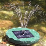 Solar Waterfall Fountain