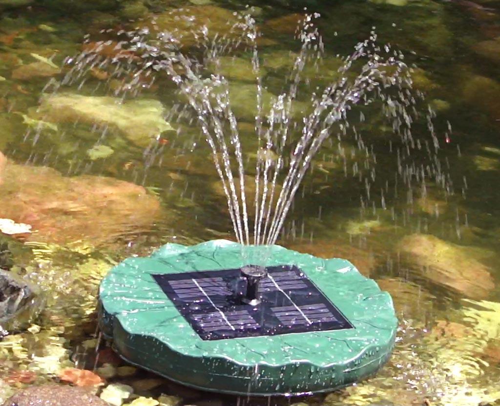 Solar Waterfall Fountain