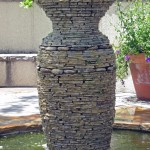 Stacked Stone Fountain