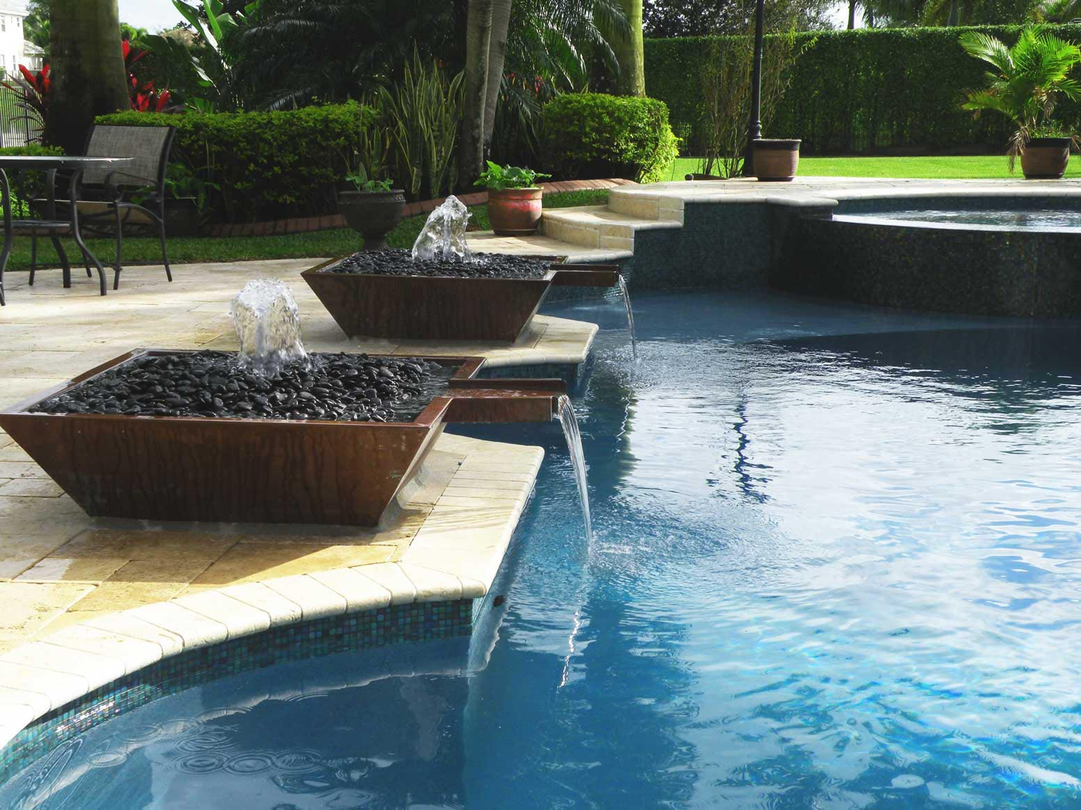 Swimming Pool Fountains : Swimming pool fountains waterfalls fountain design ideas