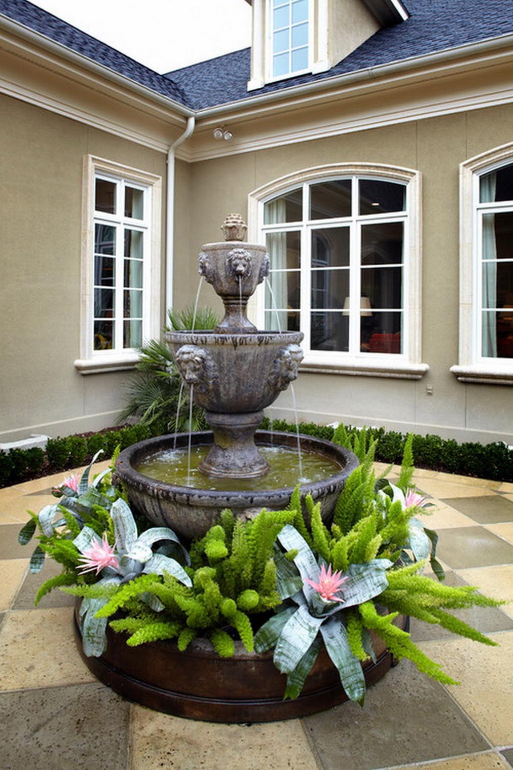 Water fountain covers outdoor fountain design ideas for Outdoor water fountain design ideas