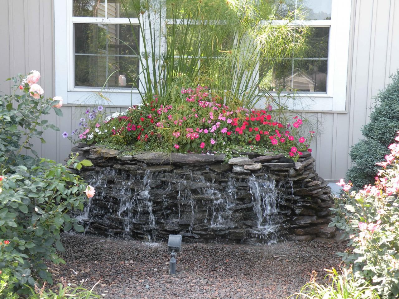 Water Fountain Front Yard