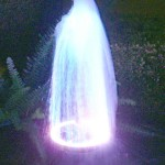 Water Fountain with LED Lights